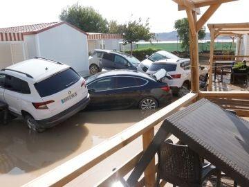 Inundado el Camping de Cabo de Gata en Níjar