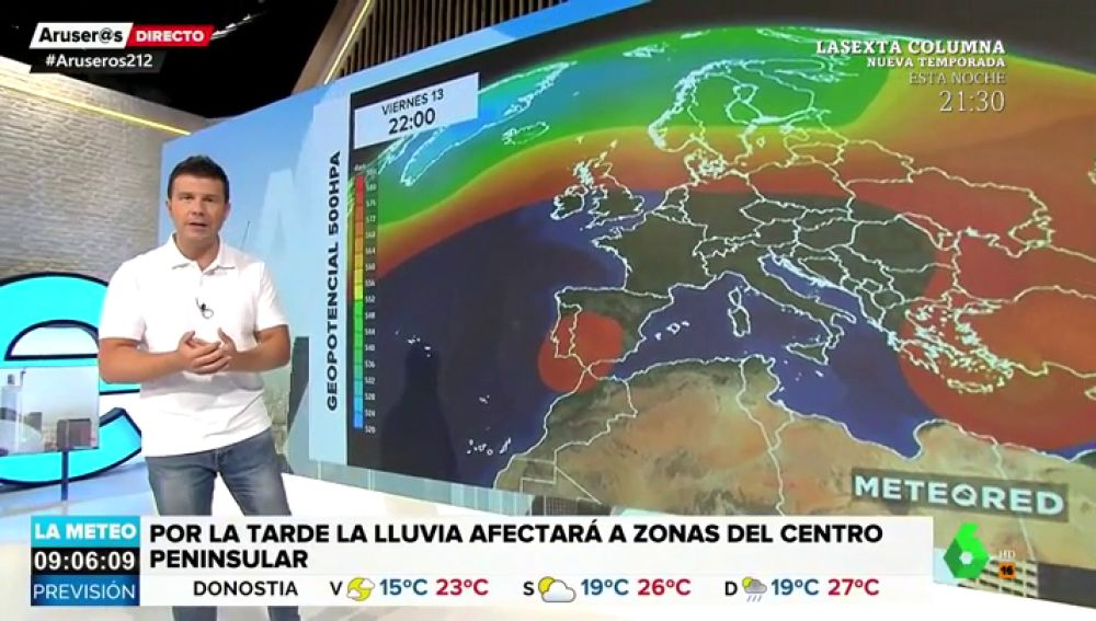 El temporal se mantiene en el Mediterráneo pero avanzará esta tarde hacia el interior