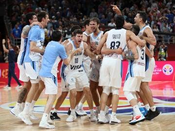 Argentina celebra su triunfo contra Francia