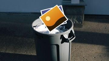 Recupera las fotos de la basura