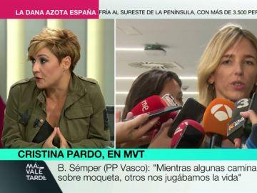 """Cristina Pardo, sobre Cayetana Álvarez de Toledo: """"Va por libre. Cree que representa al PP de Pablo Casado, pero no es verdad"""""""