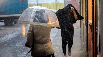 Fuertes lluvias en España