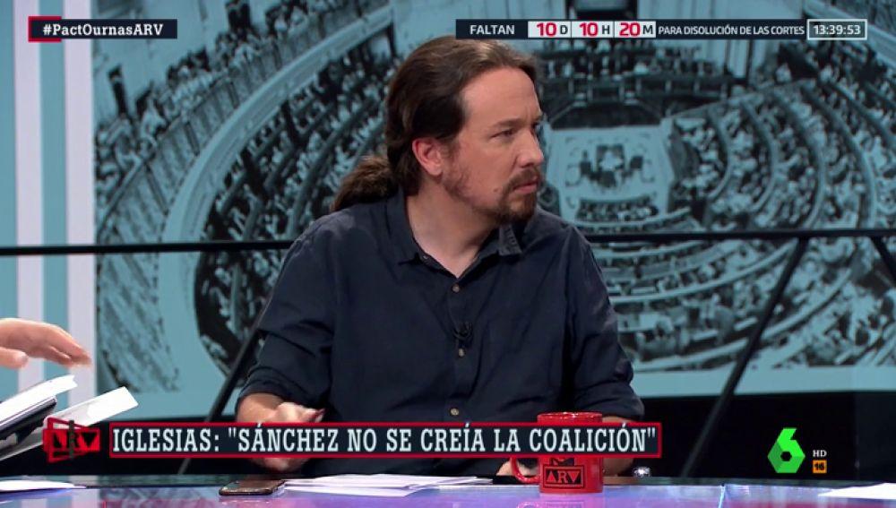 """Entrevista completa a Pablo Iglesias: """"Unas nuevas elecciones son una irresponsabilidad"""""""