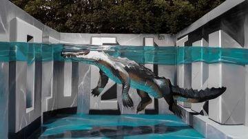 Graffiti 'Alligator Upfest' de Odeith