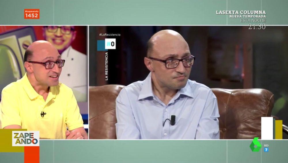 Jesús Vidal se enfrenta a las preguntas de Broncano en 'La Resistencia': cuánto dinero tienes y las relaciones del último mes