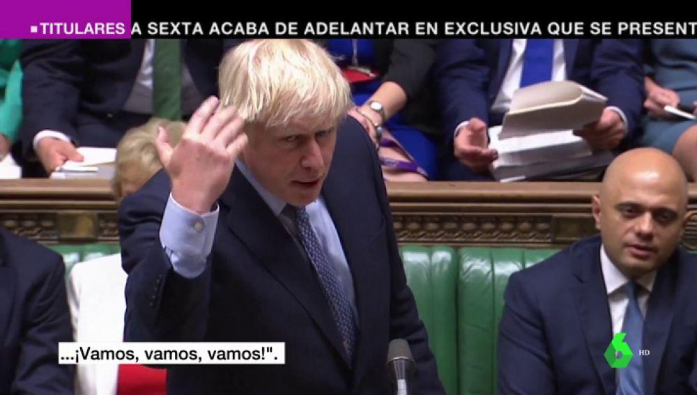 Boris Johnson vuelve al Parlamento retando a la oposición a crear una moción de censura contra él
