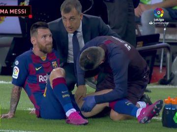 Messi, tocado