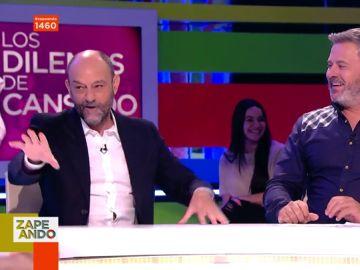 El gran dilema de Javier Cansado: ¿si tuviera que tener una aventura con alguien de Zapeando, con quién sería?