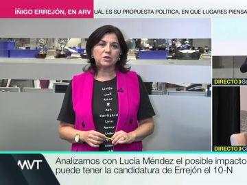 """Lucía Méndez: """"Errejón es otra persona distinta a la que era en 2014, habla con un un líder socialdemócrata clásico"""""""