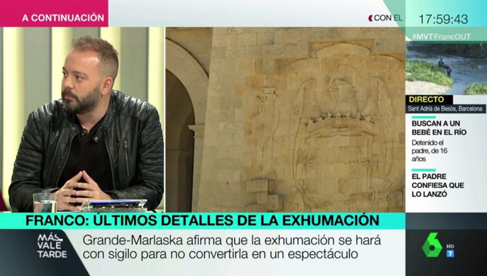 """Antonio Maestre: """"Entiendo la postura del PP de Casado con la exhumación de Franco; es de herencia franquista"""""""