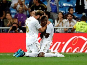 Vinícius Junior llora tras su gol ante Osasuna