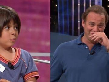 Alba, una niña de cinco años, y Bertín Osborne en un programa