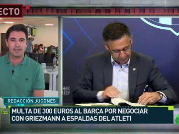 300 euros de multa al Barça por la negociación con Griezmann