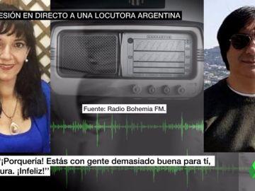 """Brutal agresión a una locutora de radio en pleno directo: """"¿No te crees que te voy a hacer mierda?"""""""