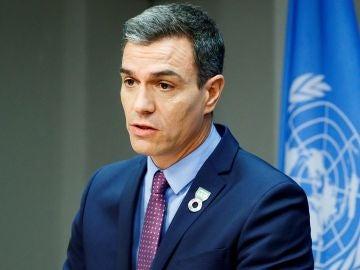 Pedro Sánchez en la sede de Naciones Unidas en Nueva York (EEUU)