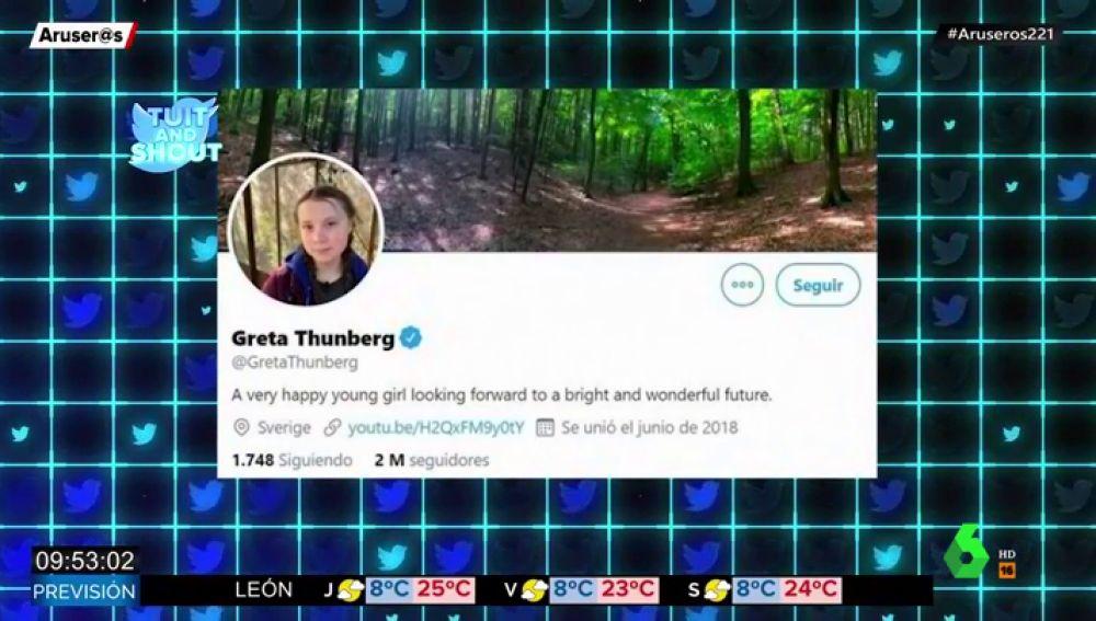 Greta Thunberg 'trolea' a Donald Trump en su perfil de Twitter