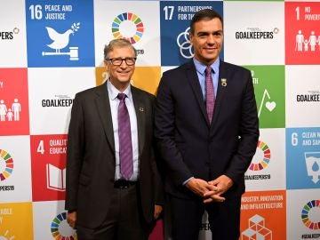 Bill Gates y Pedro Sánchez