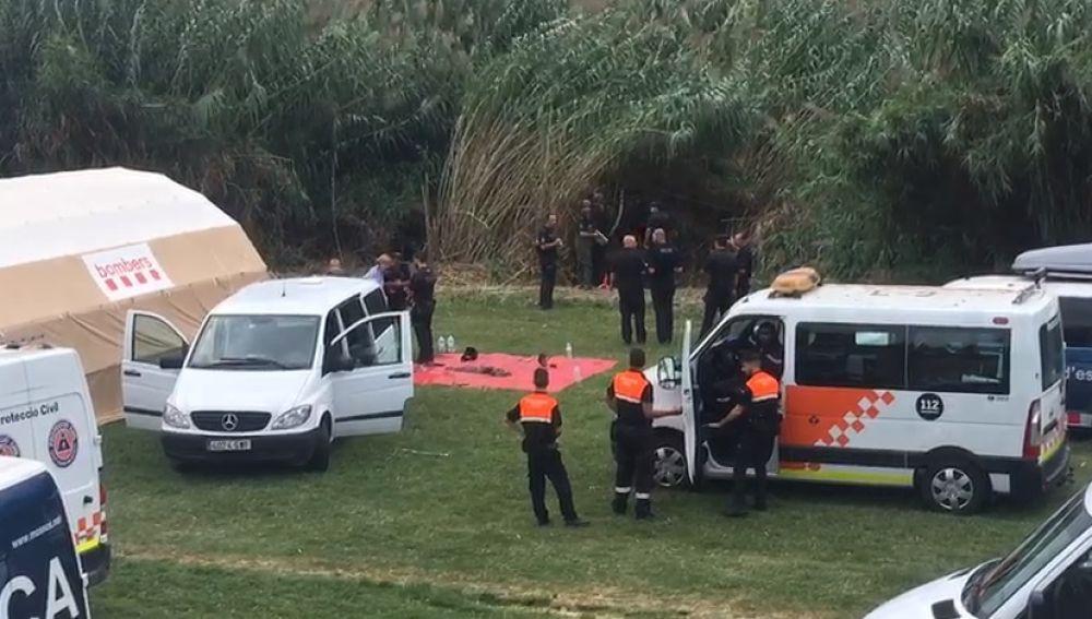 Imagen de la zona donde se ha localizado el cadáver del bebé