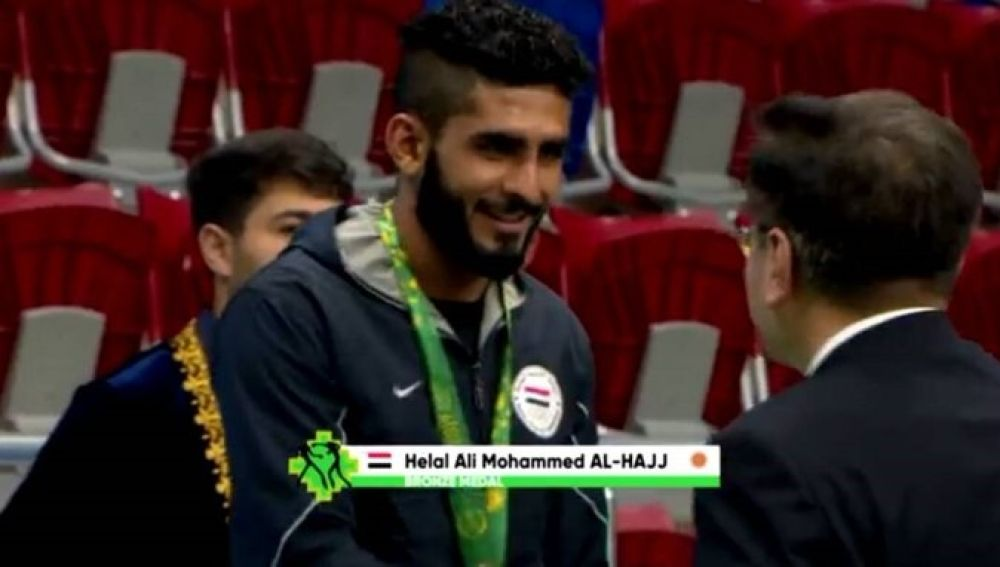 El medallista yemení Helal Ali Mohammed Al-Hajj