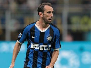 Diego Godín, con el Inter