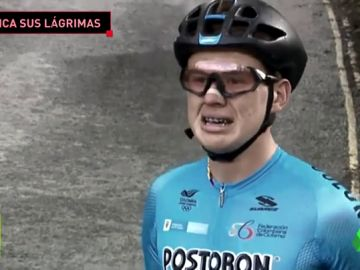 """""""No quería continuar"""": habla el ciclista que rompió a llorar cuando nadie le ayudaba"""