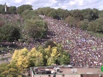 Imagen de una manifestación por la emergencia climática