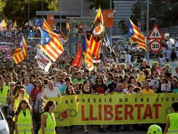 Manifestación en apoyo a los CDR en Sabadell
