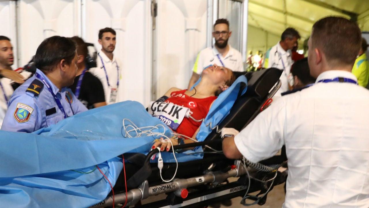 Fadine Çelik, en la maratón de Doha