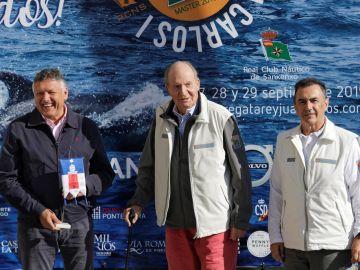 El rey Juan Carlos en la regata que lleva su nombre en Sanxenxo