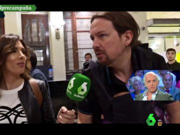 Pablo Iglesias con Verónica Sanz