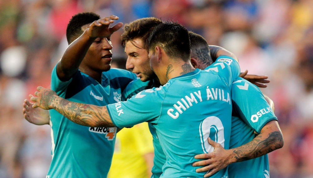 Osasuna celebra un gol