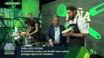 El chef Javier Peña cocina con Revilla