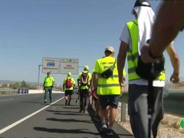 Pensionistas de camino a Madrid