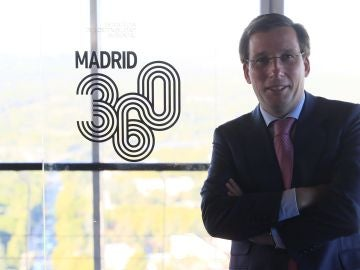 El alcalde de Madrid, José Luis Martínez-Almeida, durante la presentación de Madrid 360