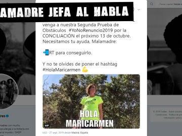 Llamamiento de @malasmadres a Carmen Calvo