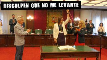 La alcaldesa de Móstoles, Natalia Posse, en su investidura
