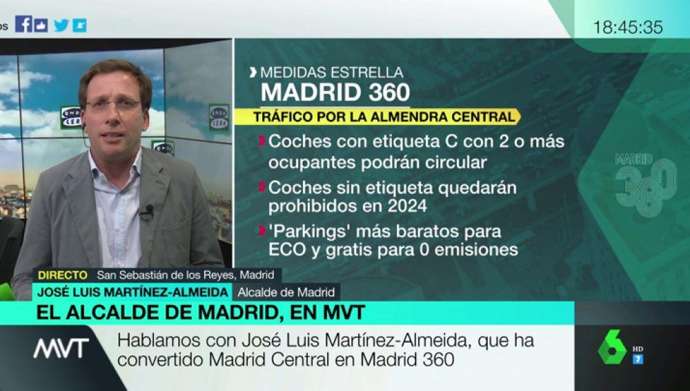 """José Luis Martínez-Almeida: """"Madrid 360 es un plan más ambicioso que el de Manuela Carmena"""""""
