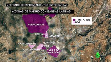 Zonas de Madrid con presencia de bandas latinas