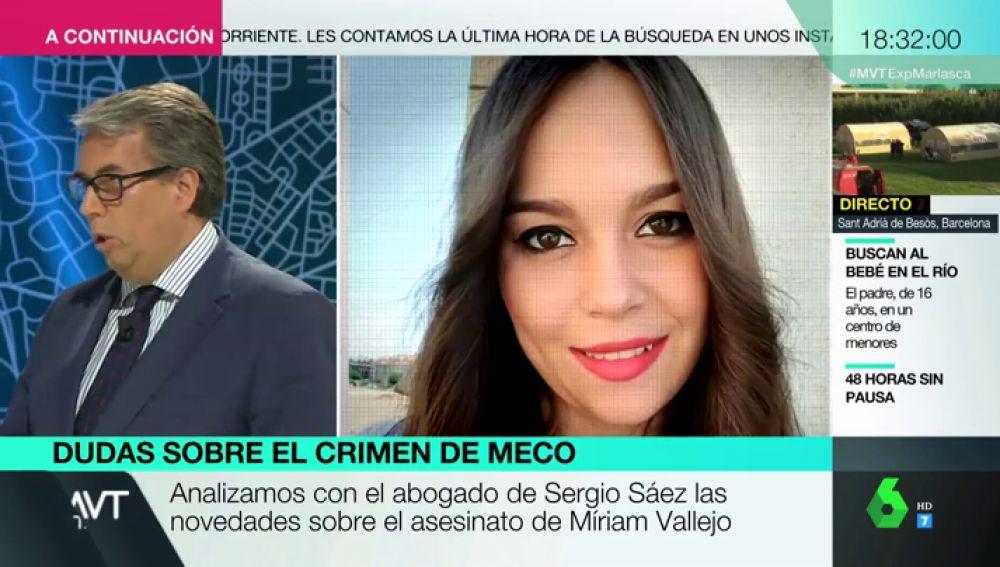 Habla el abogado de Sergio Sáez, único detenido por la muerte de Míriam Vallejo