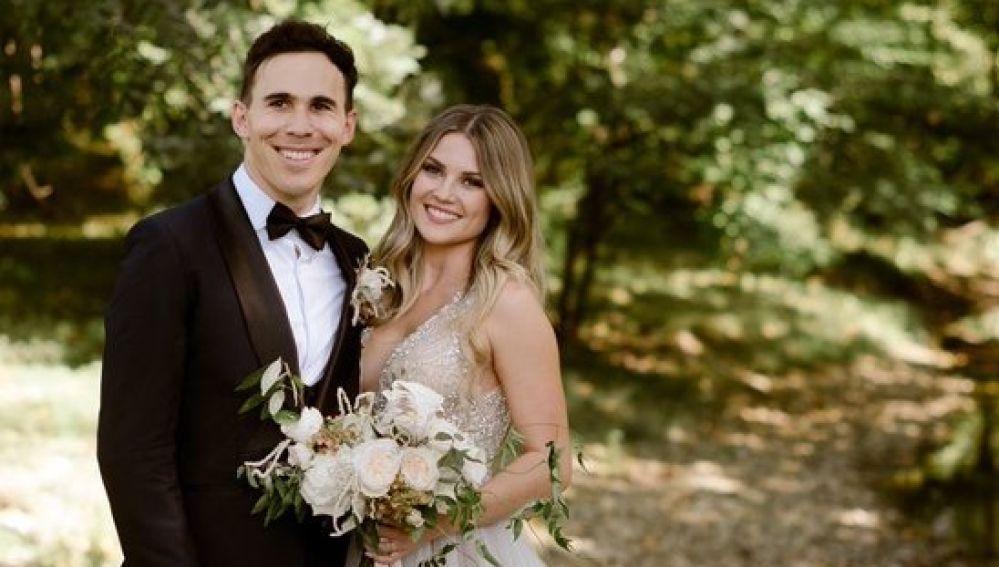 Robert Wickens y Karli Woods se casan