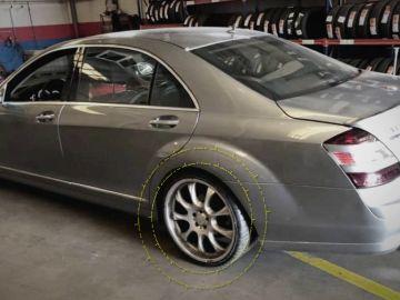 Imagen del coche de Reyes una semana antes de su accidente mortal