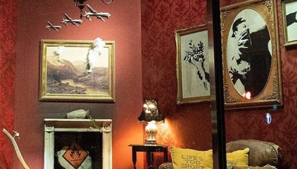 Imagen de la exposición, que ha compartido Banksy en su cuenta de Instagram