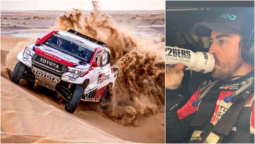 Fernando Alonso prepara el Rally de Marruecos