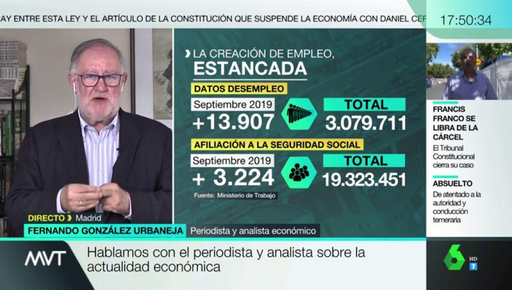 """Fernando González: """"La economía está temblando, pero no estamos en recesión"""""""
