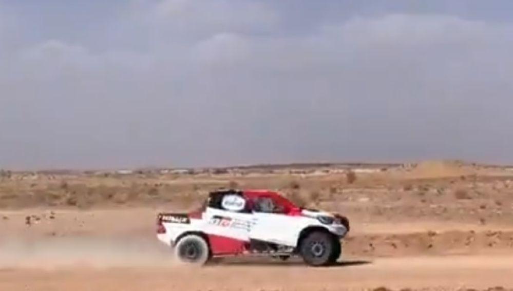 Primera imagen de Fernando Alonso en Marruecos publicada por el propio piloto.