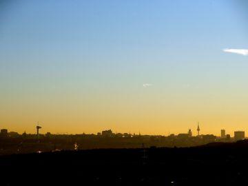 Vista de Madrid desde Pozuelo de Alarcón.