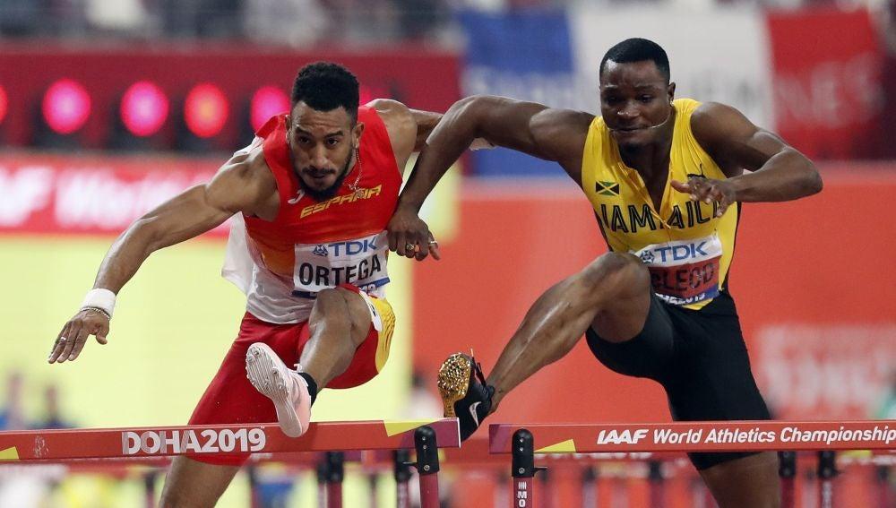 Invasión de la calle de Orlando Ortega en el Mundial de atletismo