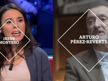 Irene Montero y Arturo Pérez-Reverte