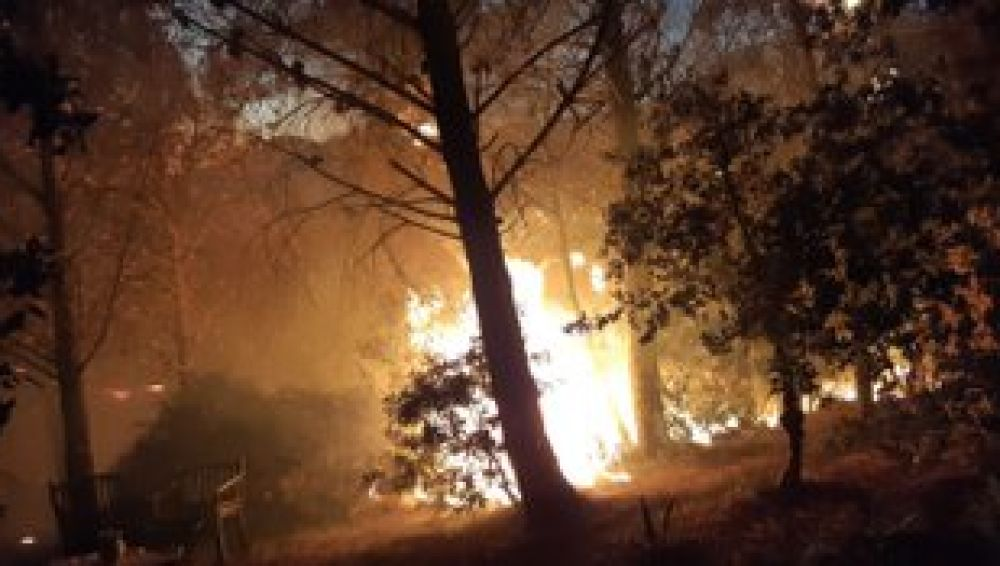 Imagen del incendio declarado en Casares, Málaga
