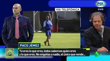 Paco Jémez se enzarza con un exfutbolista en una tele mexicana